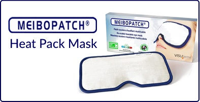 Meibopatch warming heat mask for blocked meibomian glands
